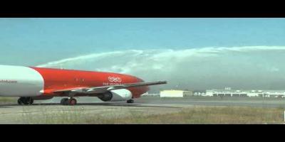 Arrivée du vol inaugural de la compagnie TNT Airways à Tunis-Carthage