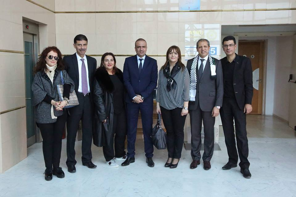 Imed Jabri et Wadï El Jarry avec les journalistes