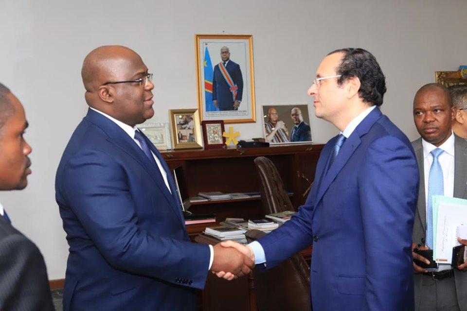 Walid Loukil avec le président de la République Démocratique du Congo, M. Felix Tshisekedi